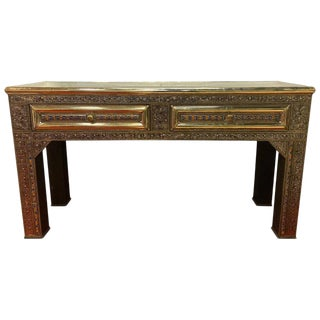 Moroccan Palatial Handcrafted Filigree Style Console For Sale