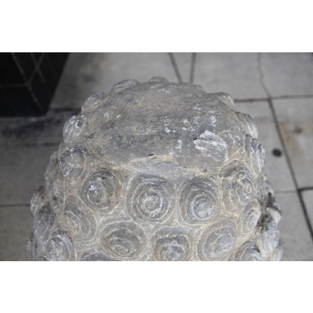 Antique Sandstone Buddha on Steel Base $2,400 For Sale In Los Angeles - Image 6 of 7