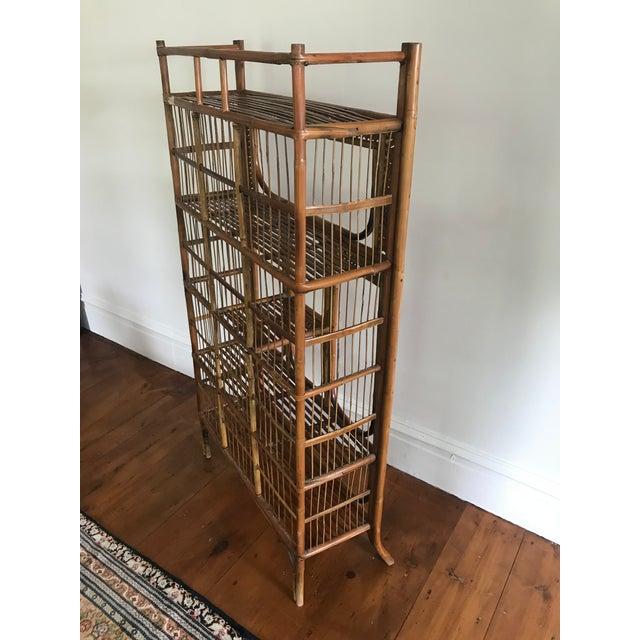 Asian Vintage Bamboo Étagère Bookshelf For Sale - Image 3 of 8