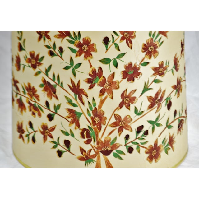 Vintage Floral Cut Out Drum Lampshade For Sale - Image 4 of 13