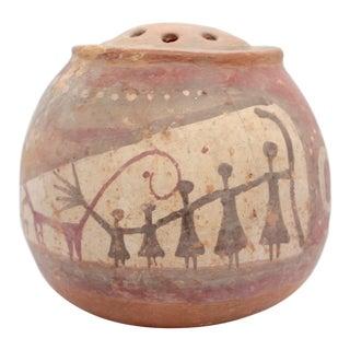 20th Century Primitive Ceramic Flower Flog Vase For Sale