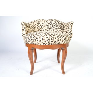 Louis XV Style French Vanity Chair Having Cheetah Upholstery Preview