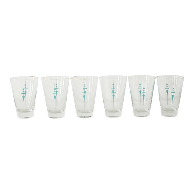 Vintage Mid Century Water Glasses- Set of 6 For Sale