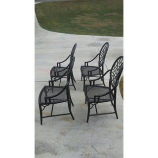 McGuire Furniture Cracked Ice Arm Chairs - Set of 4 Preview
