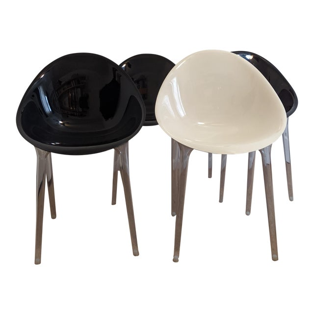Philippe Stark for Kartell Mr Impossible Chairs - Set of 4 For Sale