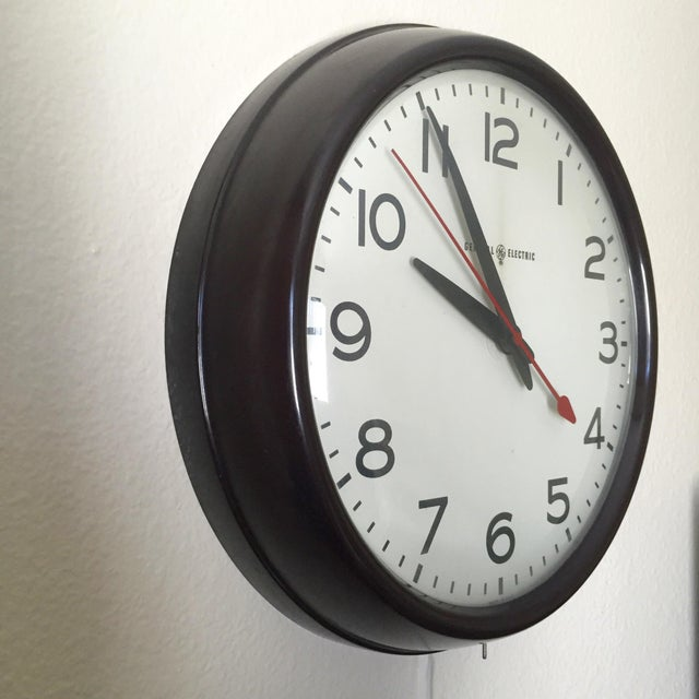 MCM General Electric Second Hand Wall Clock For Sale In San Diego - Image 6 of 6