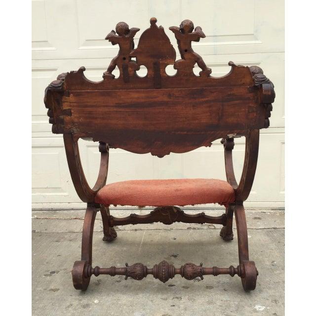 Antique Italian Savonarola Chair - Image 8 of 9