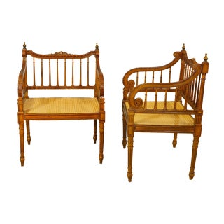 A Pair of Circa 1900 Italian Empire Style Armchairs For Sale