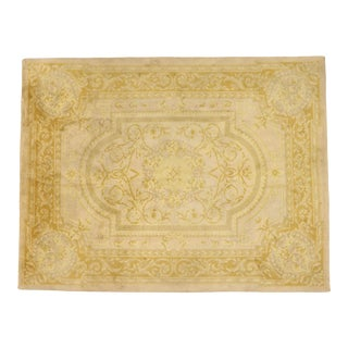 Antique Spanish Savonnerie Rug - 09'01 X 11'11 For Sale