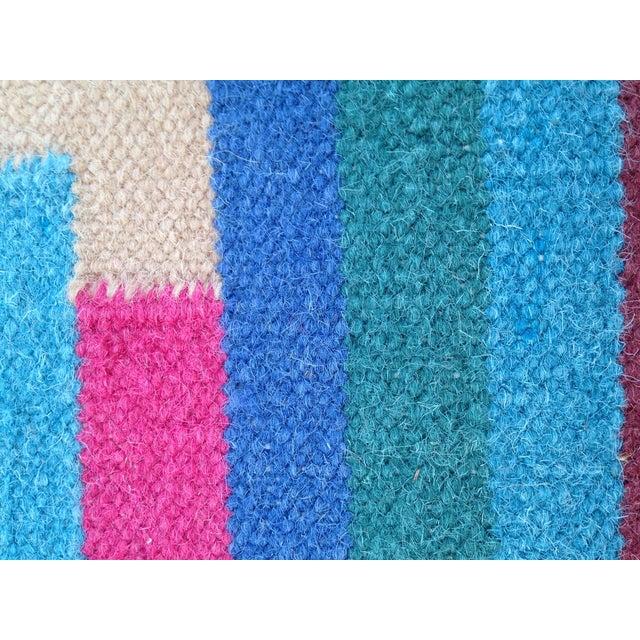 Flat Woven Wool Kilim Rug- 6' x 9' - Image 7 of 10