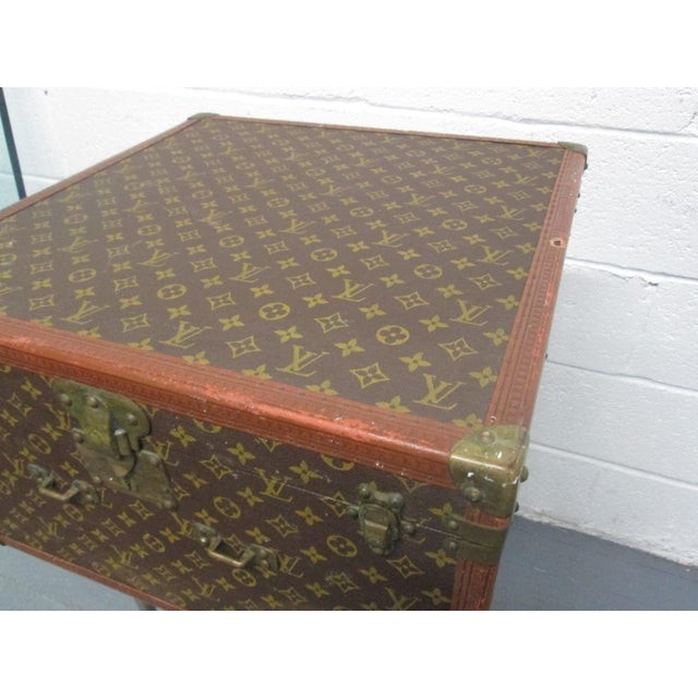 Brown Louis Vuitton Vintage Hat Box For Sale - Image 8 of 10