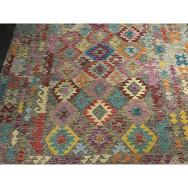 """Bellwether Rugs Wool Kilim Rug - 6'8"""" x 10' - Image 3 of 11"""