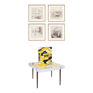 """TASCHEN's Gio Ponti """"Planchart Coffee Table"""", Book and Prints, Limited Edition, Signed - 6 Pieces For Sale"""