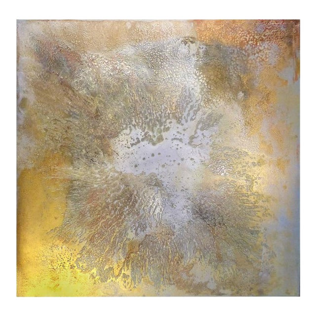 """Contemporary Abstract Titled """"Asteroid"""" by Brazilian Artist Andre Brandao For Sale"""