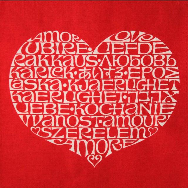 International Heart Textile Art by Alexander Girard - Image 3 of 3