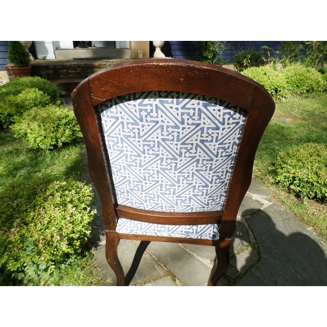 Late 18th Century Louis XV Fruitwood Side Chair Covered in Fortuny For Sale - Image 5 of 13