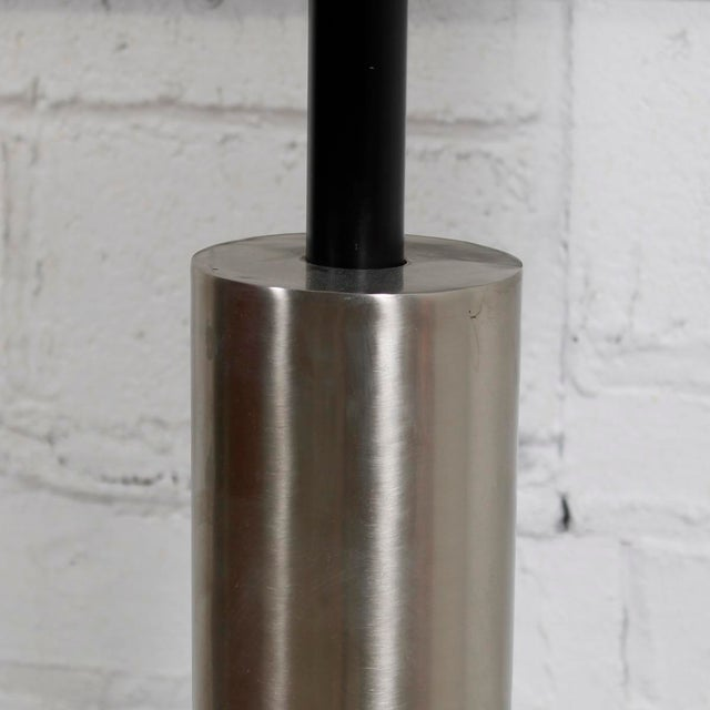 Mid-Century Modern Lamp With a Brushed Chrome Cylinder - Image 5 of 5