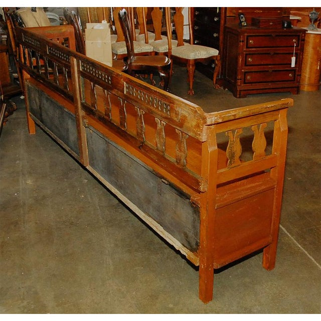 Rustic European Long Bench For Sale - Image 3 of 4
