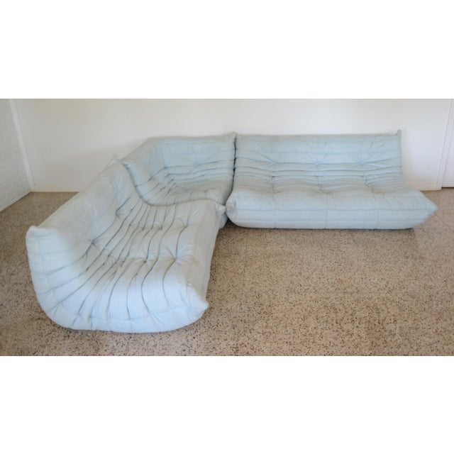 """Ligne Rose """"Togo"""" 3 Piece Sectional by Michel Ducaroy For Sale - Image 11 of 11"""