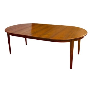 Omann Jun Large Round Teak Dining Table For Sale
