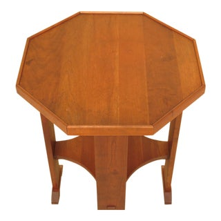 Stickley Octagonal Arts & Crafts Cherry End Table For Sale