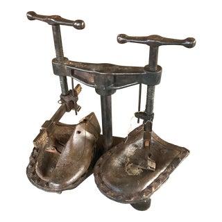 Antique Cobbler's Shoe Sole Press For Sale