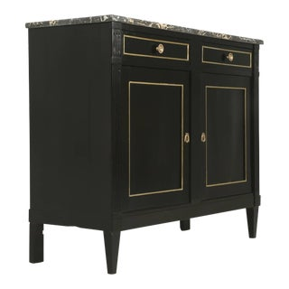 Antique French Louis XVI Style Buffet in an Ebonized Finish For Sale