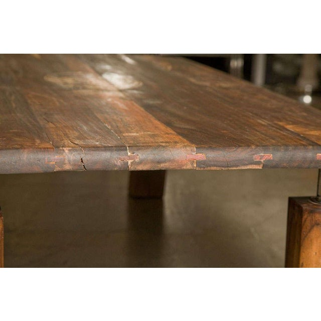 Coffee Brazilian Rosewood Indoor/Outdoor Coffee Table For Sale - Image 8 of 9