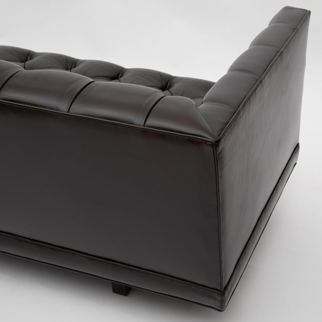 Ward Bennett Button-Tufted Leather Sofa for Lehigh Furniture, Circa 1960s For Sale - Image 11 of 13