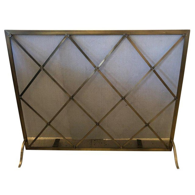 Handsome Large Fireplace Screen For Sale - Image 11 of 11