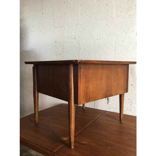 Mid-Century Modern Side Table With Caned Doors . For Sale In Miami - Image 6 of 11