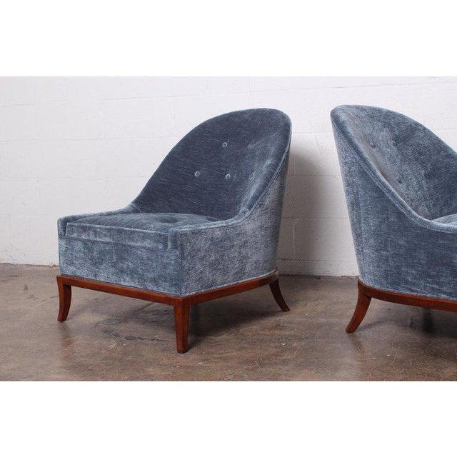 1950s Pair of Slipper Chairs by t.h. Robsjohn-Gibbings for Widdicomb For Sale - Image 5 of 12