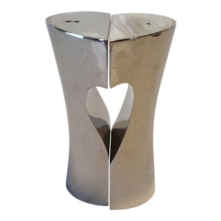 Silver Plated Salt & Pepper Shakers in Heart Design by Godinger - a Pair