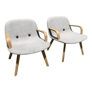 Erik Jørgensen Eyes Lounge Chairs- a Pair For Sale