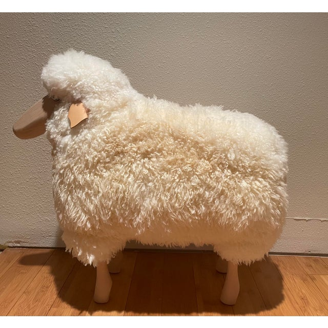 Claude Lalanne Vintage Lalanne Style Carved Wood Sheep For Sale - Image 4 of 5