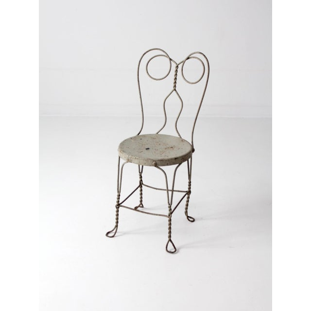 Vintage Ice Cream Parlor Chair For Sale - Image 9 of 9