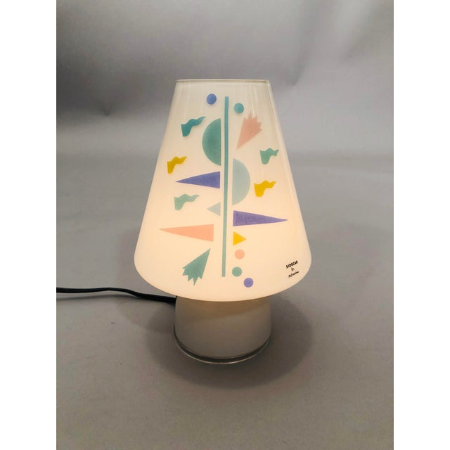 Sidecar Table Lamp with decoration by Italian Designer Alessandro Mendini