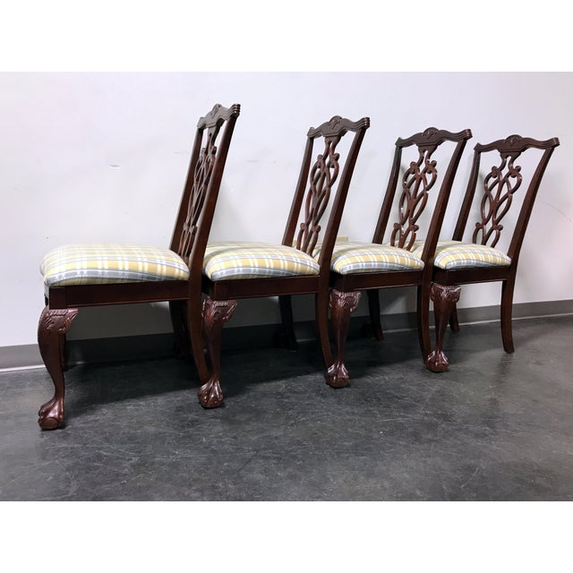 Lexington Chippendale Mahogany Ball Claw Dining Chairs- Set of 4 - Image 8 of 11
