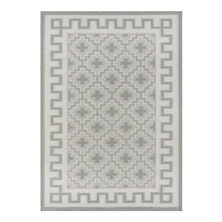 Erin Gates by Momeni Thompson Brookline Grey Hand Woven Wool Area Rug - 7′6″ × 9′6″ For Sale