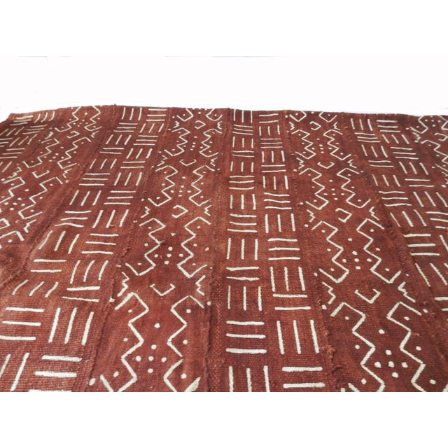 African Chocolate & Ivory Mud Cloth - Pair - Image 4 of 9