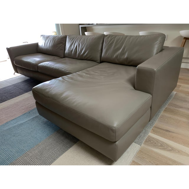 Gray Design Within Reach Reid Sectional Chaise For Sale - Image 8 of 8