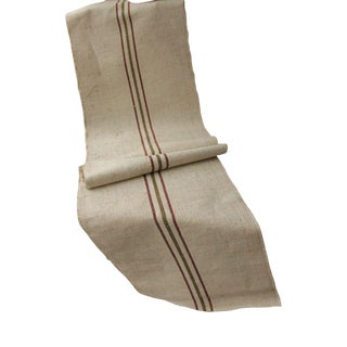 "Antique Hemp Organic Table Runner Fabric - 70"" x 18.5ʺ For Sale"