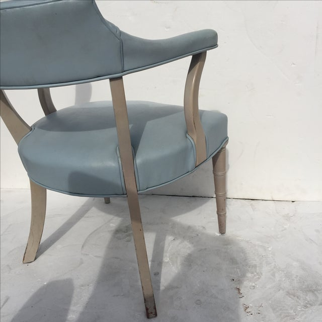 Faux Bamboo Captain's Chairs - A Pair - Image 5 of 10