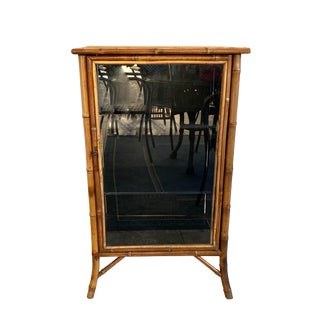 Nineteenth Century Bamboo Glass Door Cabinet For Sale