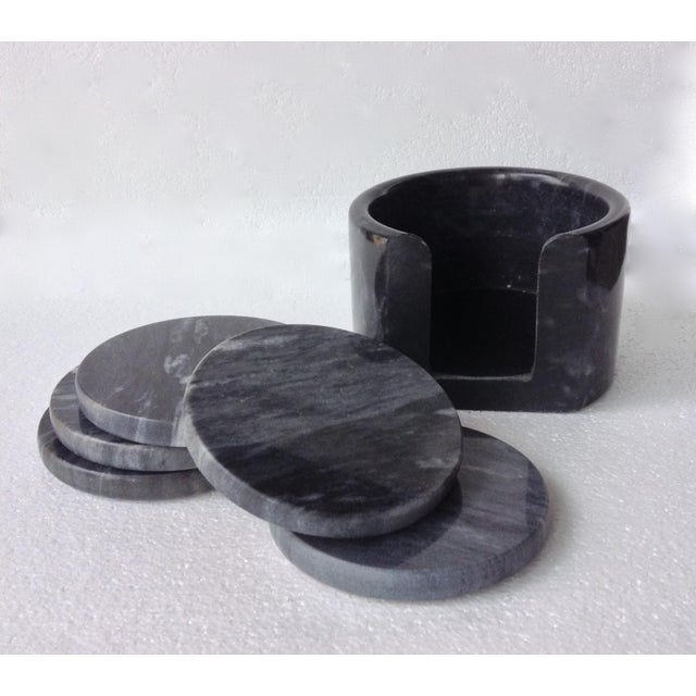 Marble Coster Wheels : Italian marble drinks coaster set holder of