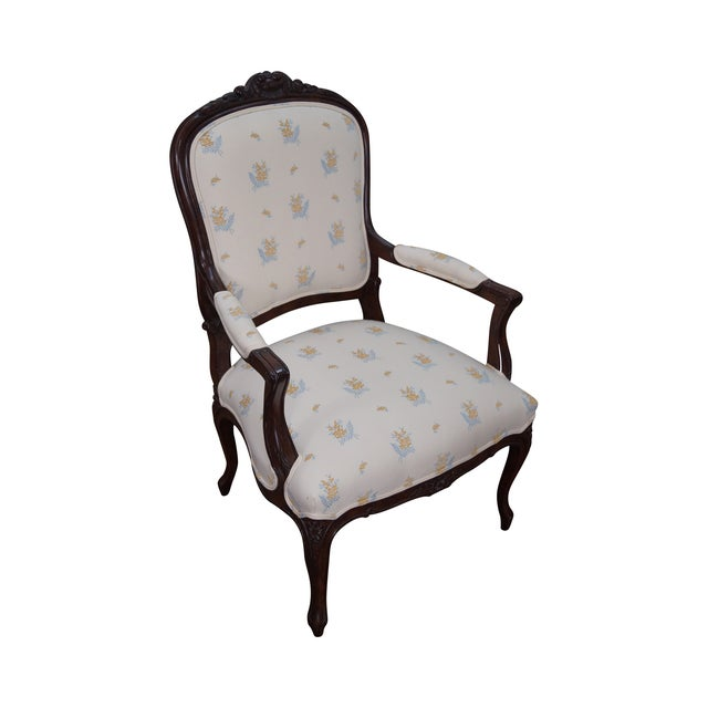 Jeffco J. Peterman Collection French Arm Chair For Sale