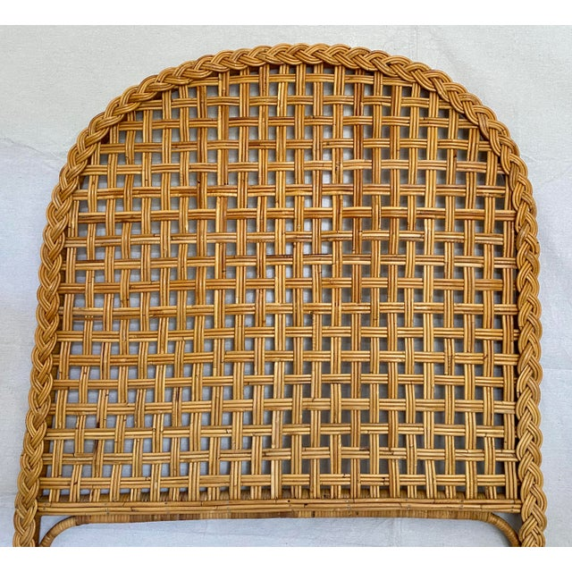 Vintage Woven Braided Rattan Headboards- a Pair For Sale In Tampa - Image 6 of 13