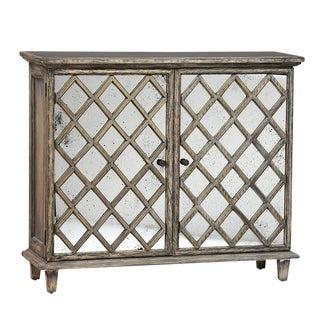 Antiqued Mirror Side Cabinet For Sale