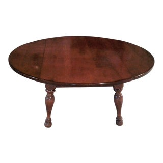 Mid-Century Early American Double Sided Drop-Leaf Round Coffee Table