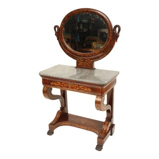 19th Century Neo Classical Style Inlaid Vanity For Sale